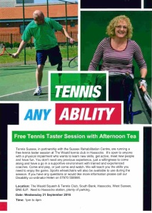 Tennis Taster Session - Hassocks