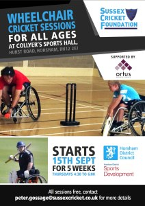 wheelchair cricket Sussex
