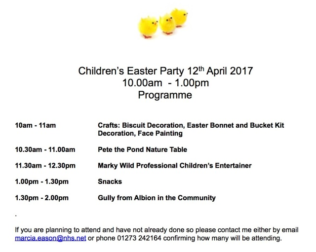 Coasting Together Easter Programme