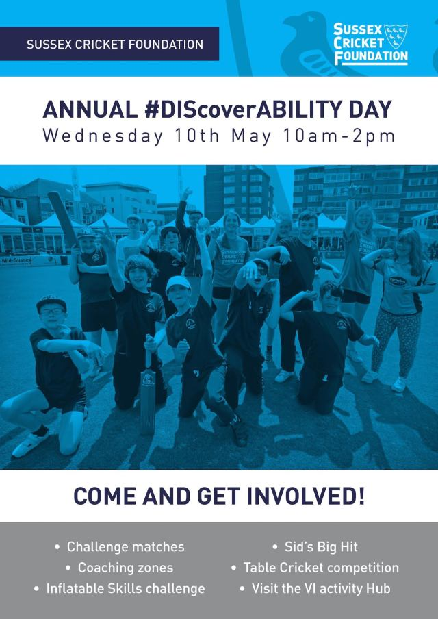Sussex Cricket Foundation discoverability day2017