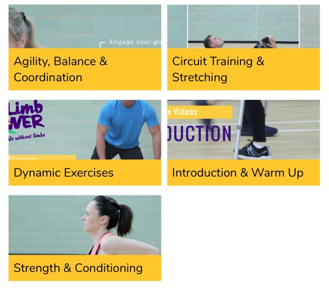 LimbPower exercise videos