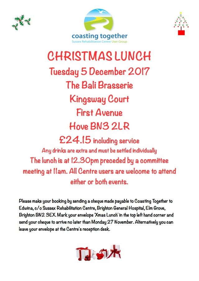 Coasting Together Christmas lunch 2017
