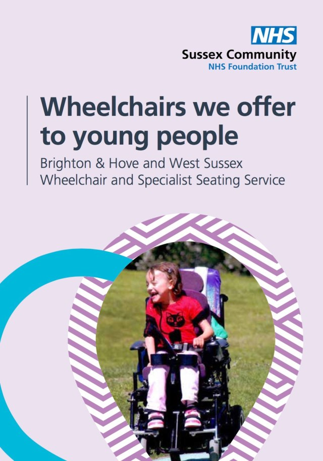young persons wheelchair leaflet photo